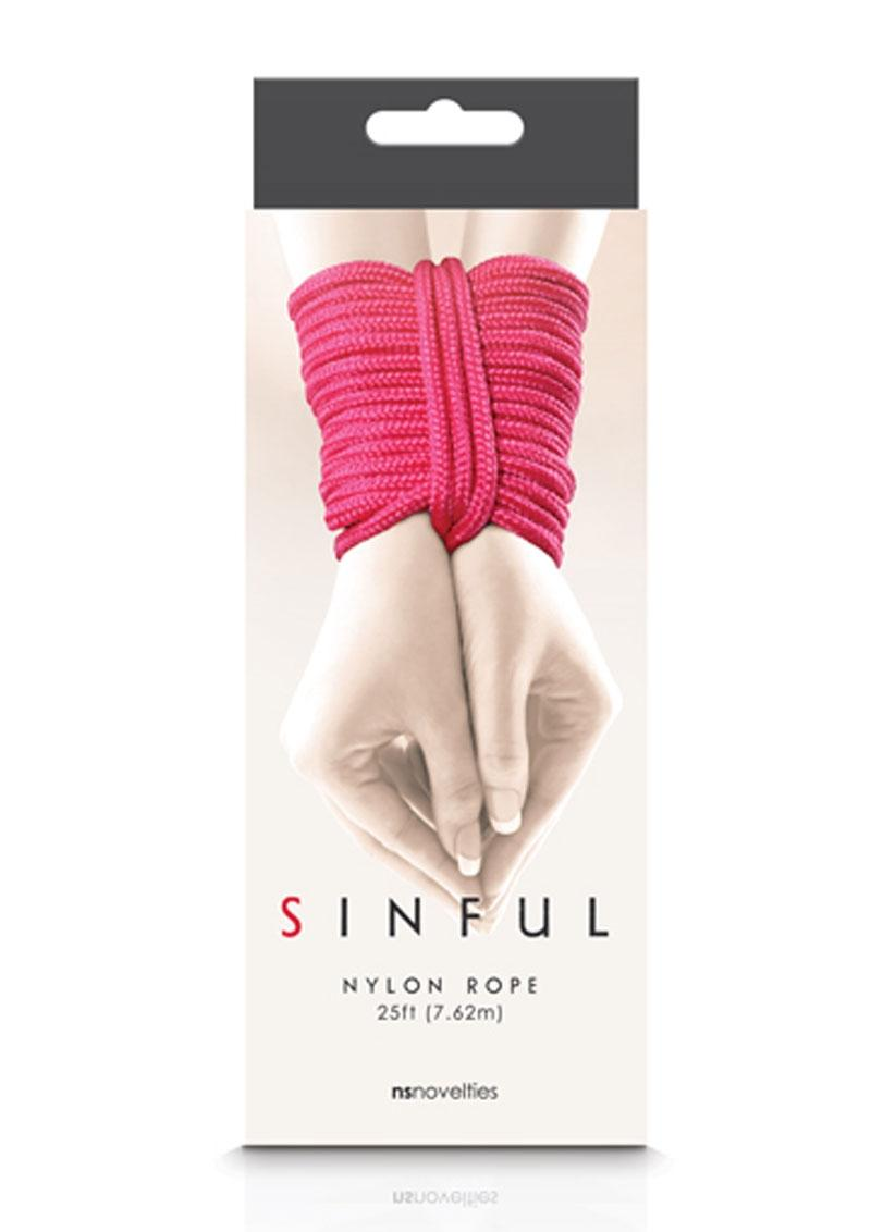 Sinful Nylon Rope 25ft - Pink