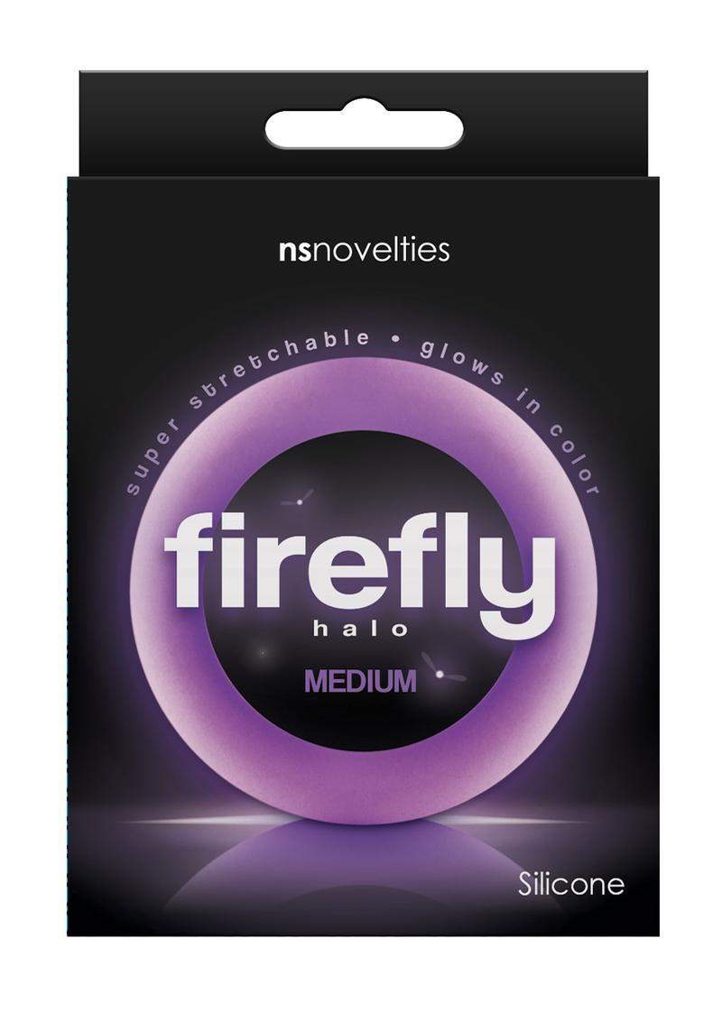 Firefly Halo Medium Silicone Cock Ring Purple