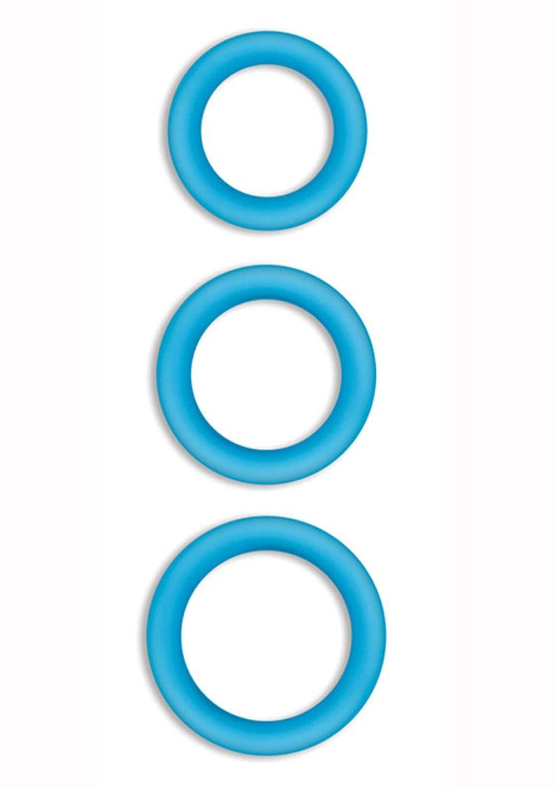 Firefly Halo Medium Silicone Cock Ring Blue