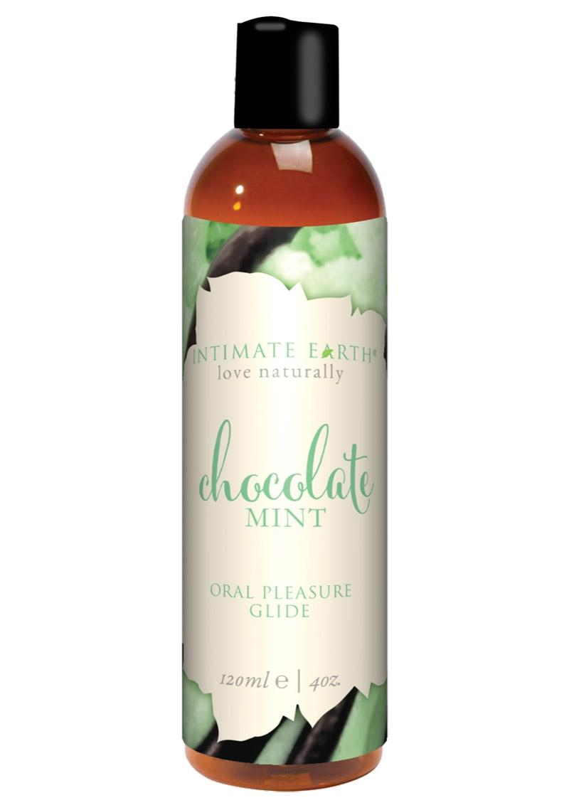 Intimate Earth Natural Flavors Glide Chocolate Mint 4oz