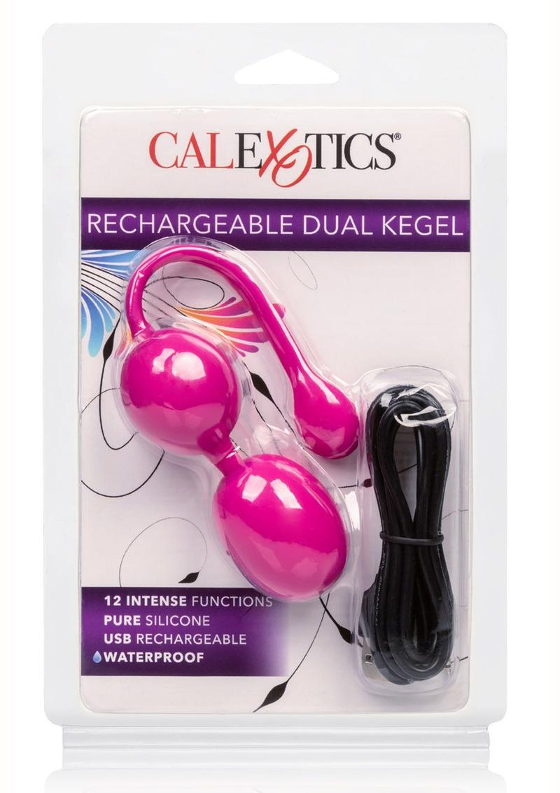 Rechargeable Dual Kegel Silicone Rechargeable Waterproof Pink