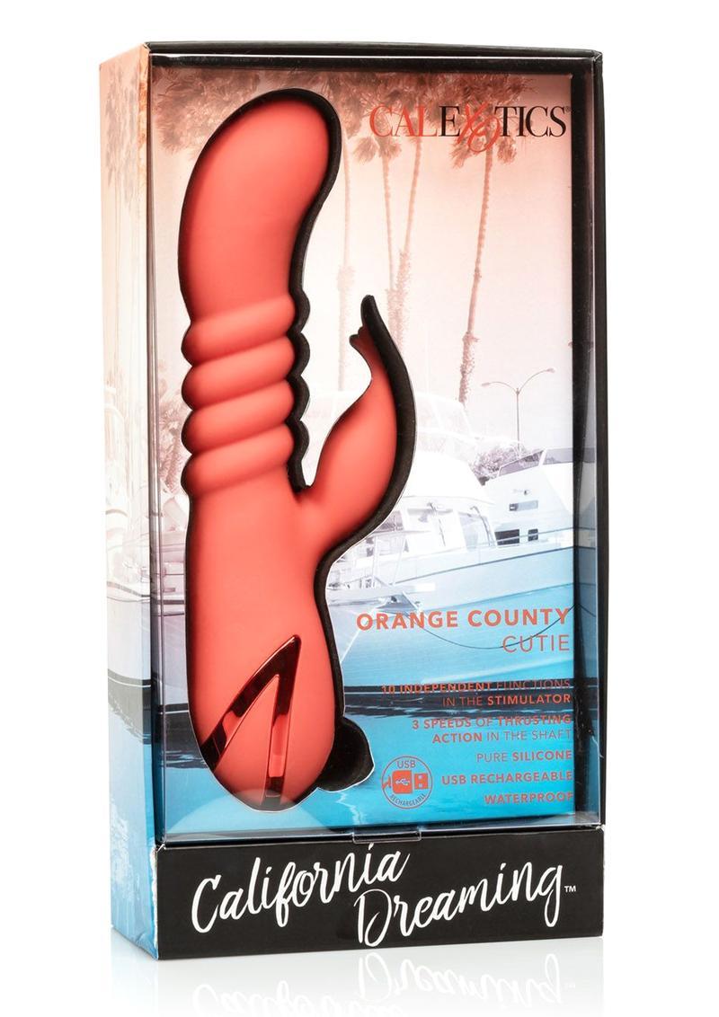 California Dreaming Orange County Cutie Silicone Rechargeable Waterproof Orange