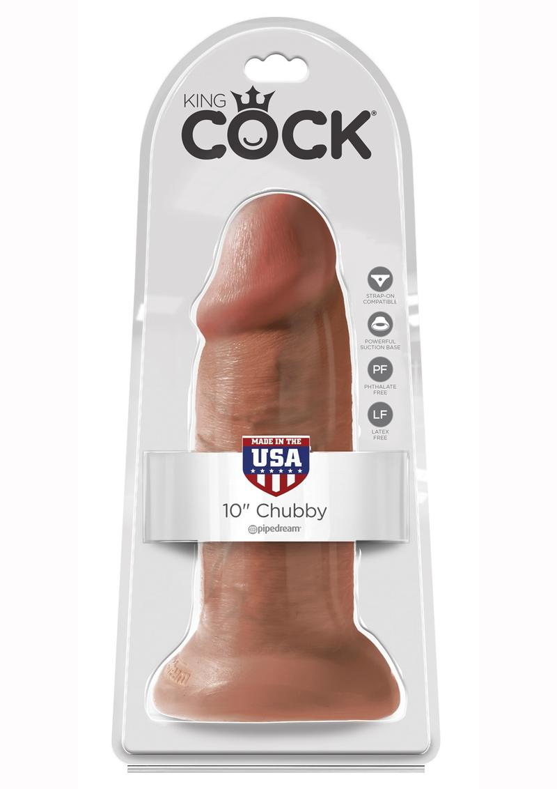 King Cock Non Vibrating Chubby Tan 10 Inches
