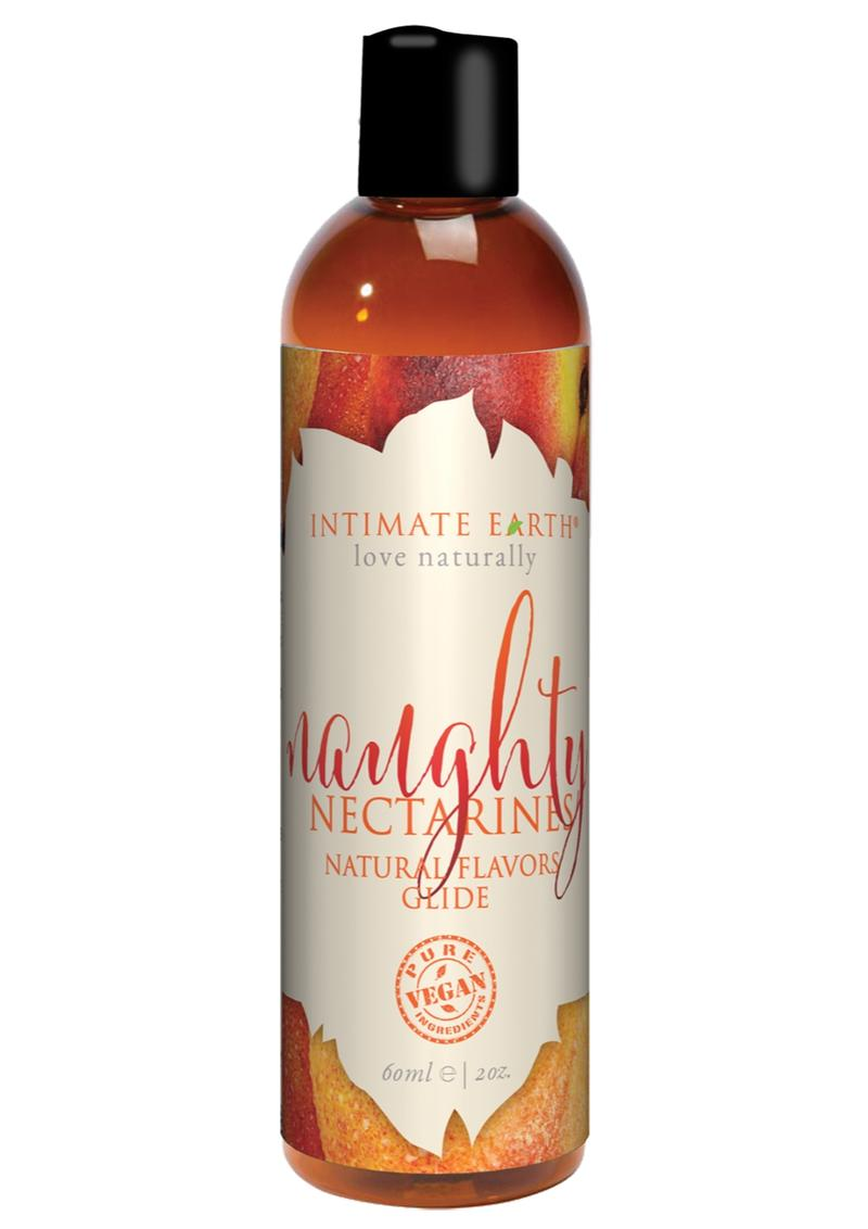 Intimate Earth Natural Flavors Glide Naughty Nectarines 2oz