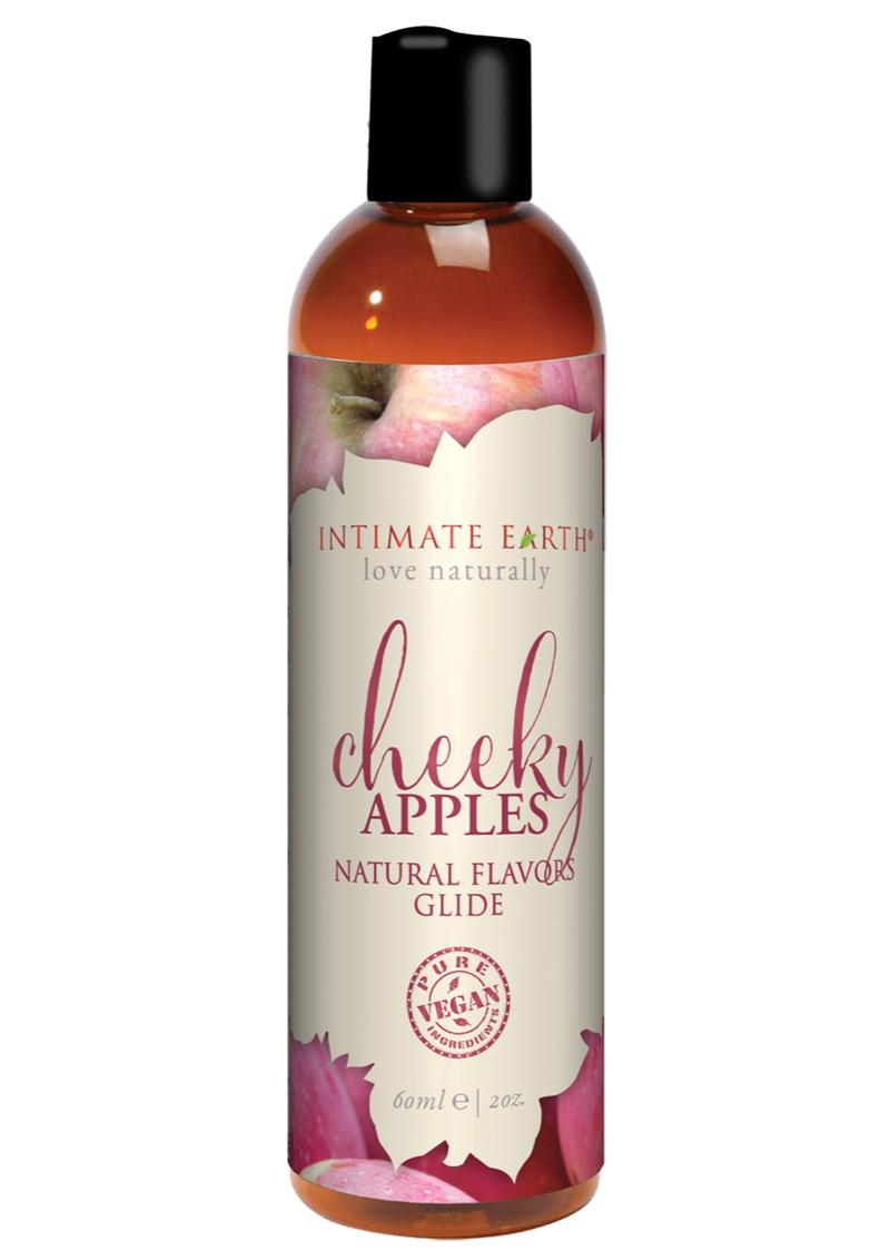 Intimate Earth Natural Flavors Glide Cheeky Apples 2oz
