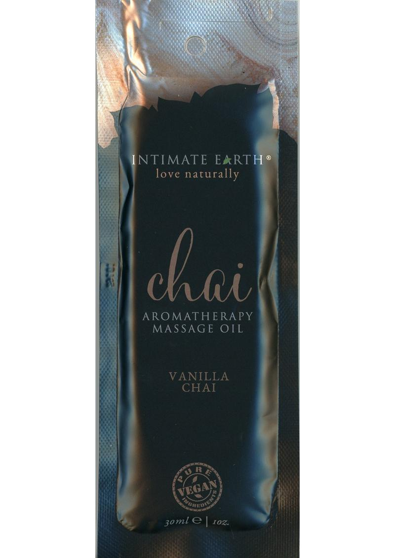 Intimate Earth Chai Aromatherapy Massage Oil Vanilla Chai 1oz