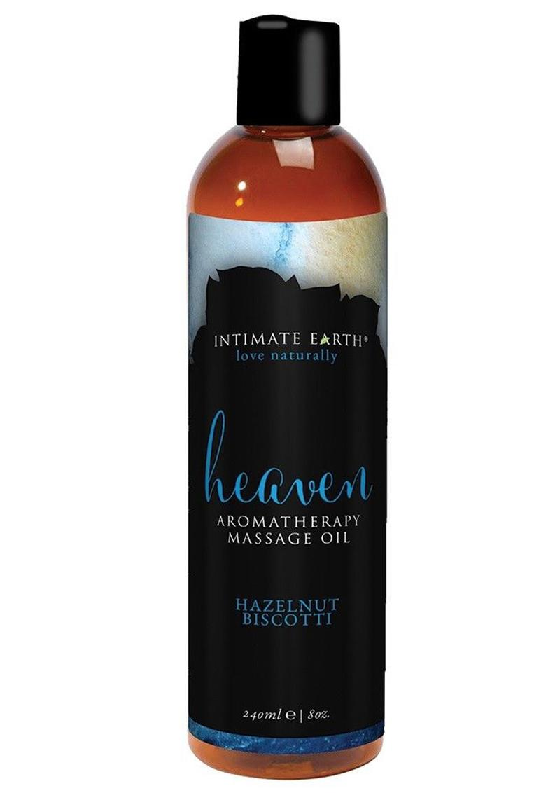 Intimate Earth Heaven Aromatherapy Massage Oil Hazelnut Biscotti 8oz