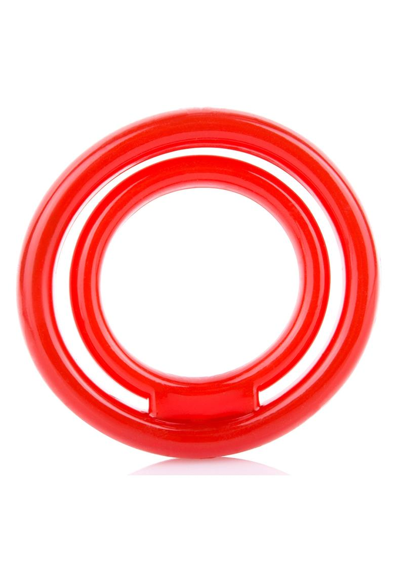 RingO 2 Stretchy Cock Ring With Testicle Sling Red