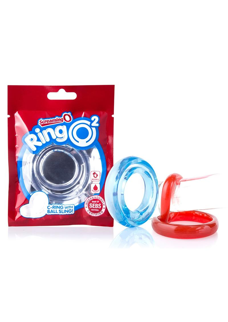RingO 2 Stretchy Cock Ring With Testicle Sling Clear