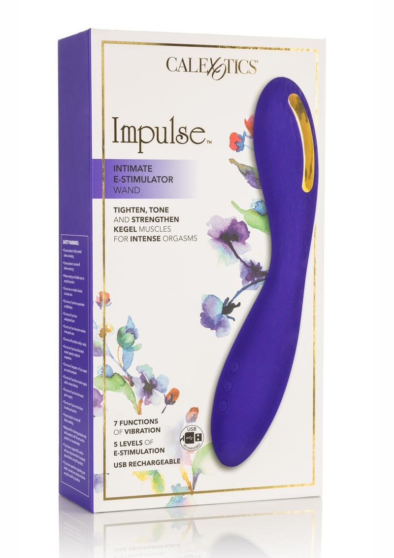 Impulse Intimate E-Stimulator Wand Silicone Rechargeable Waterproof Purple