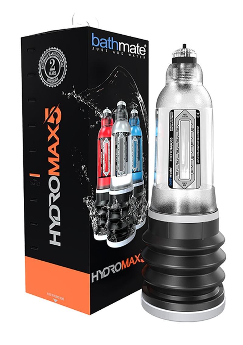 Bathmate Hydromax5 Penis Pump Waterproof Crystal Clear