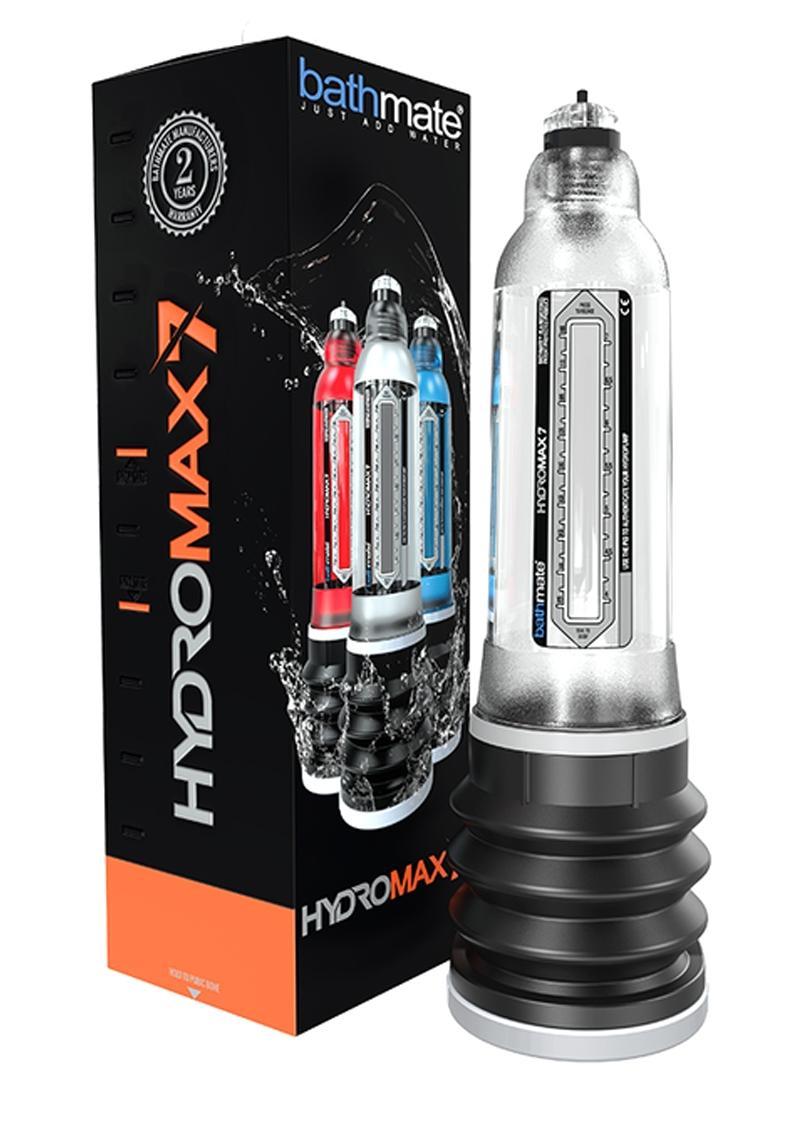 Bathmate Hydromax7 Penis Pump Waterproof Crystal Clear