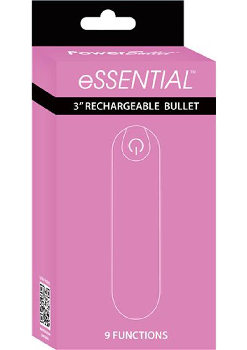 Essential Power Bullet Rechargeable Waterproof Pink