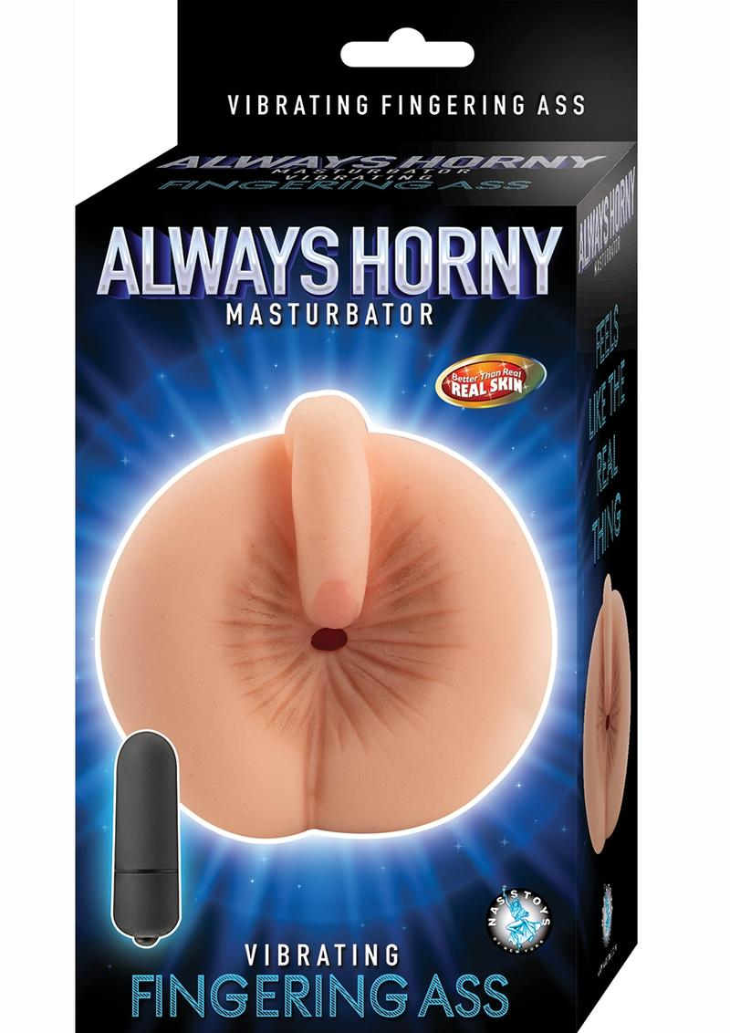 Always Horny Masturbator Vibrating Fingering Ass Waterproof Flesh 6.5 Inch