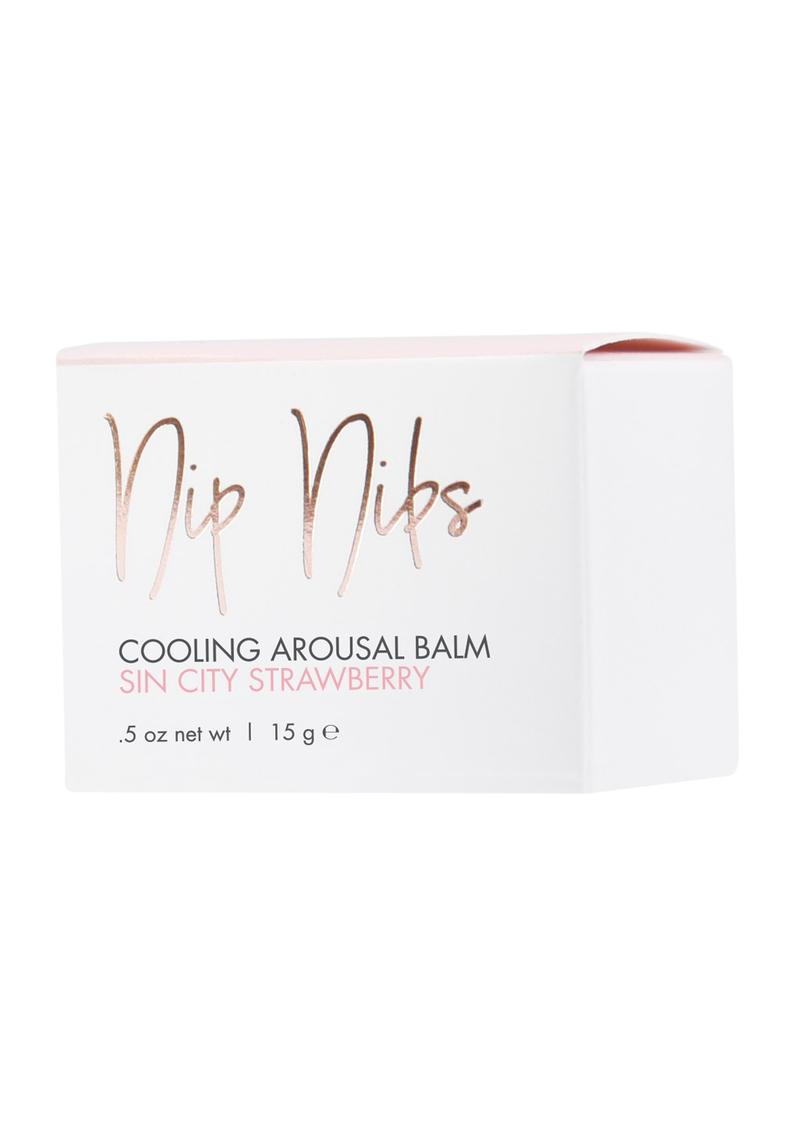 CG Nip Nibs Cooling Arousal Balm Sin City Strawberry .5 Ounce Jar