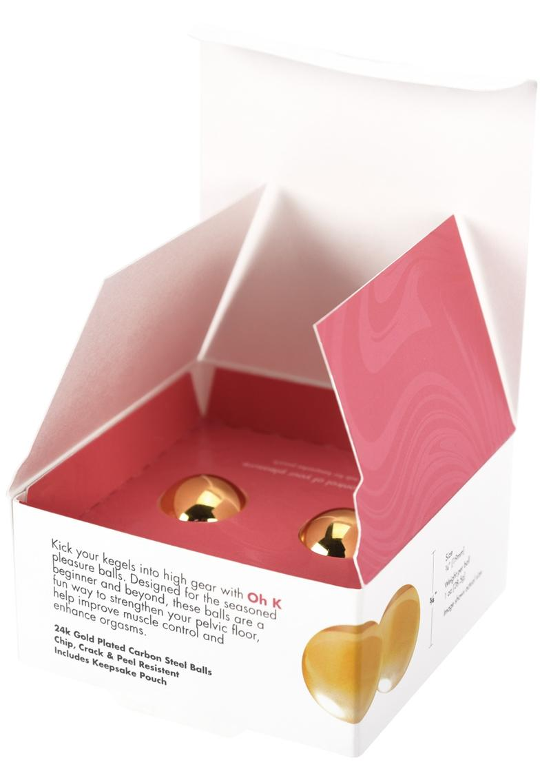 CG Oh K 24k Gold Plated Pleasure Balls Set Kegal and Pelvic Exerciser