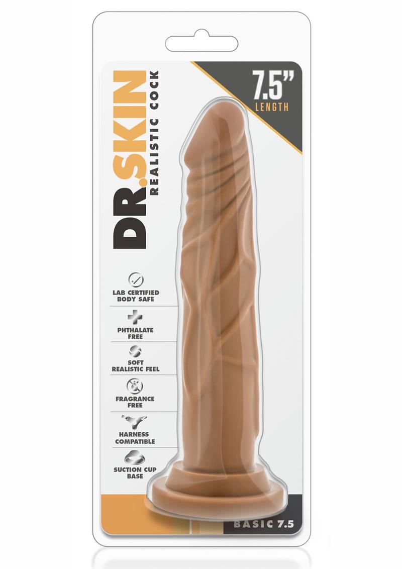 Dr. Skin Basic Realistic Cock Mocha 7.5 Inch
