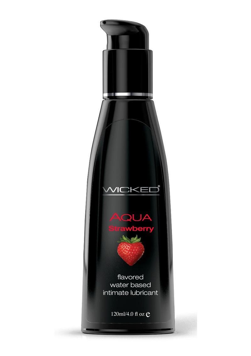 Wicked Aqua Strawberry Lube 4oz Water Based