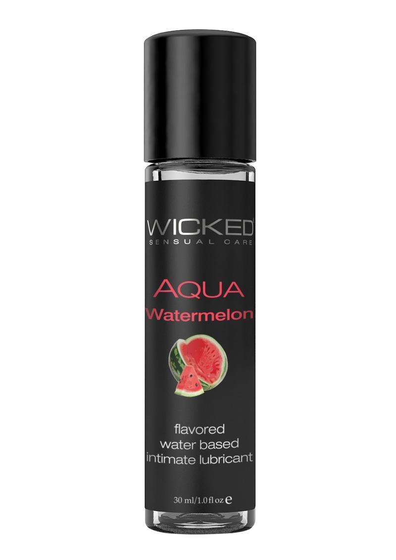 Wicked Aqua Watermelon Lube 1oz Water Based