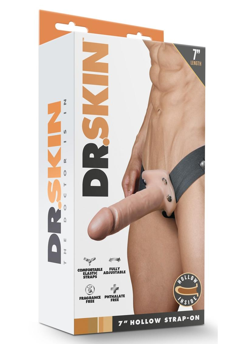 Dr Skin Hollow Strap-On 7in - Vanilla