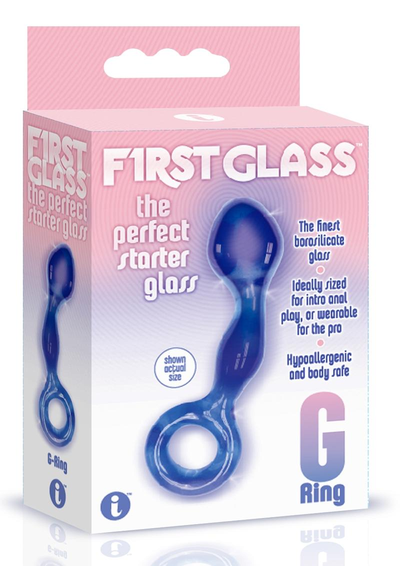 The 9 First Glass G Ring Blue