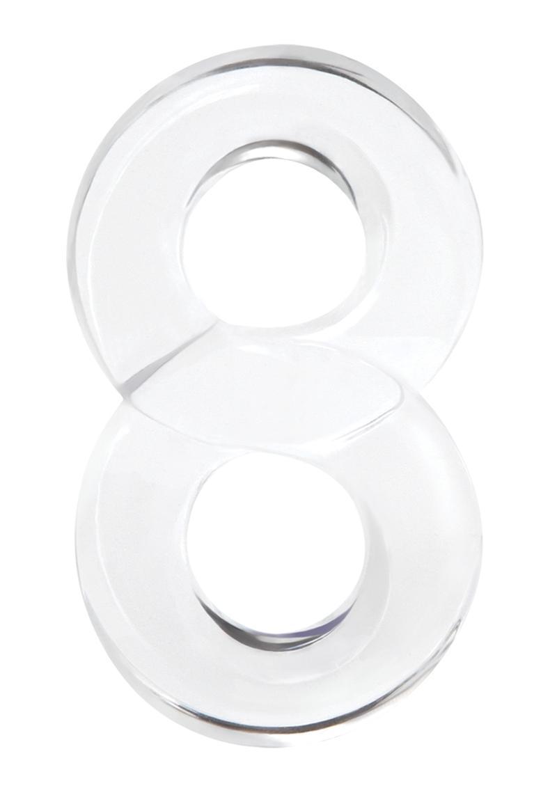 Renegade Lucky 8 Clear Cock Ring Non-Vibrating