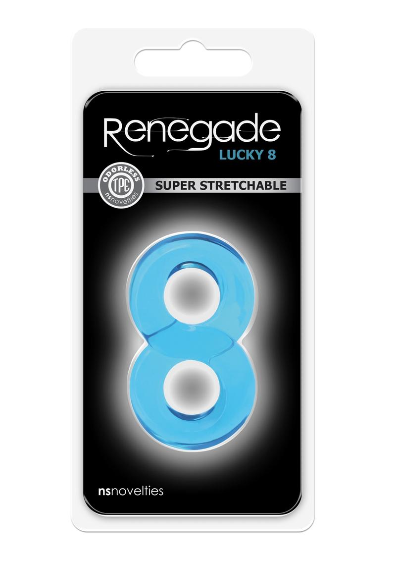 Renegade Lucky 8 Blue Cock Ring Non-Vibrating