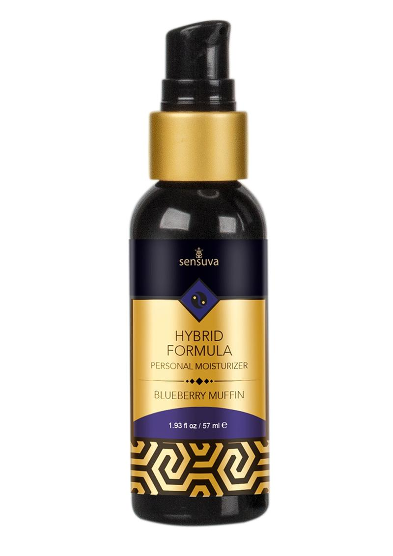 Sensuva Hybrid Formula Personal Moisturizer Blueberry Muffin Flavored Lubricant 1.93oz