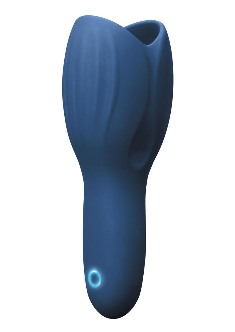 Renegade Vibrating Head Unit Silicone Rechargeable - Blue