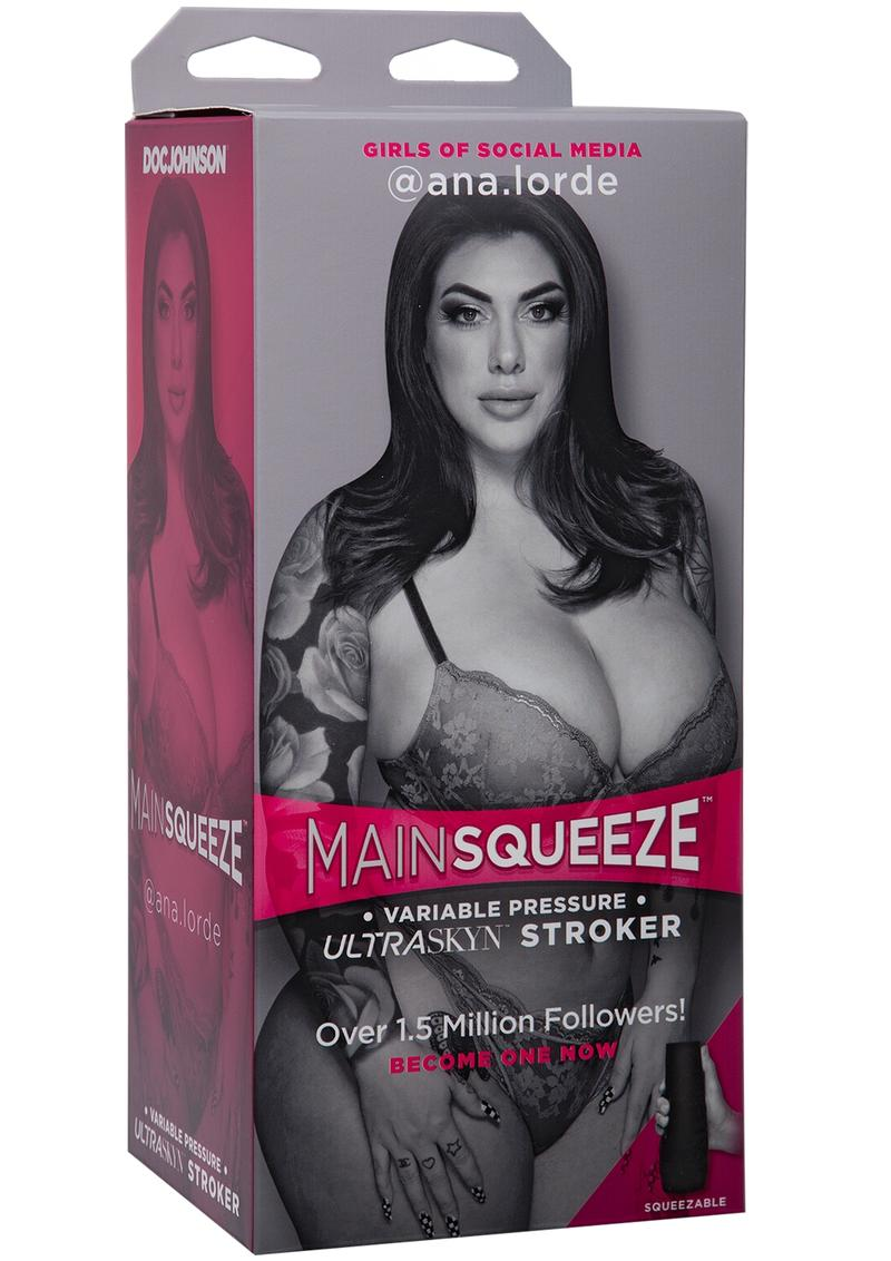 Main Squeeze Girls Of Social Media Ana Lorde Ultraskyn Stroker Pussy Masturbator Vanilla 9 Inches