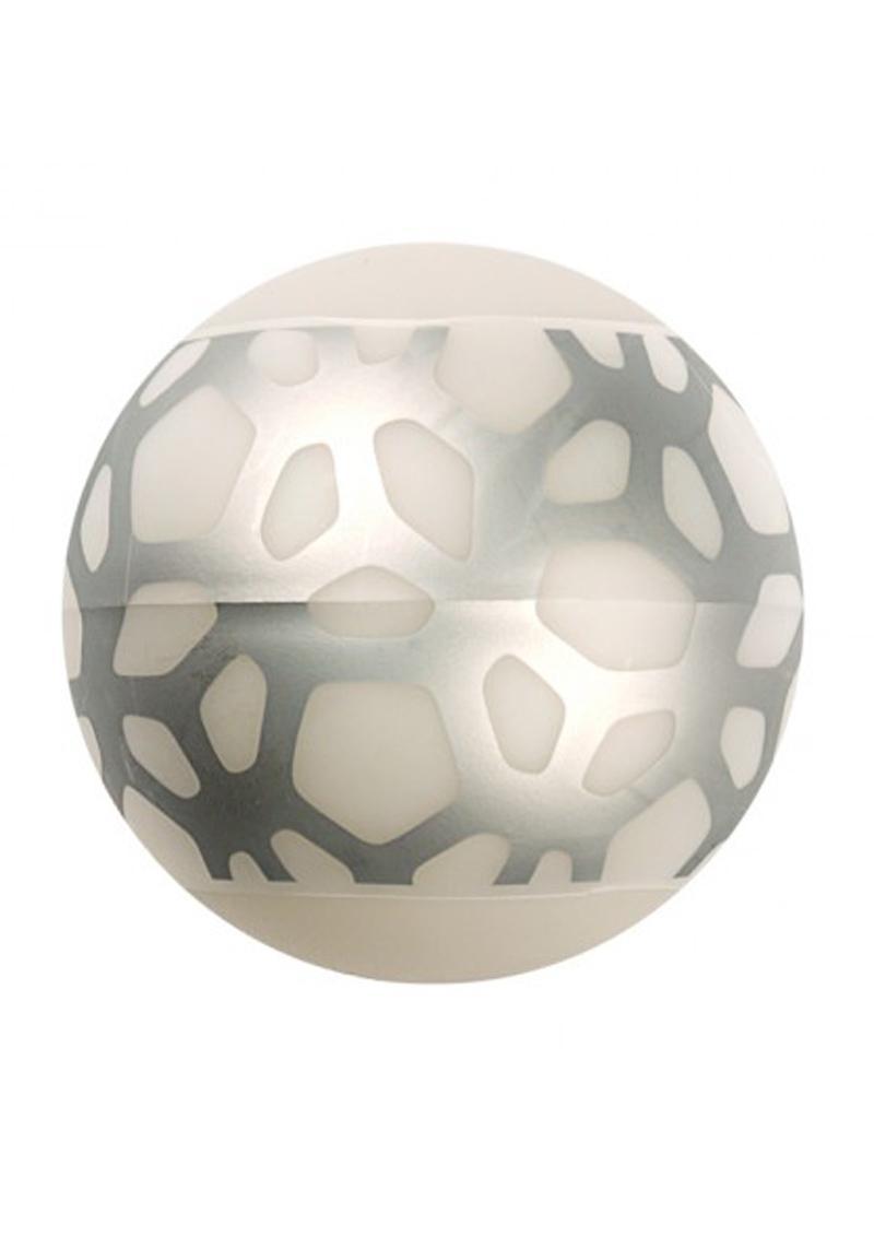 Linx Geo Stroker Ball Masturbator Ribbed Textured Waterproof Clear