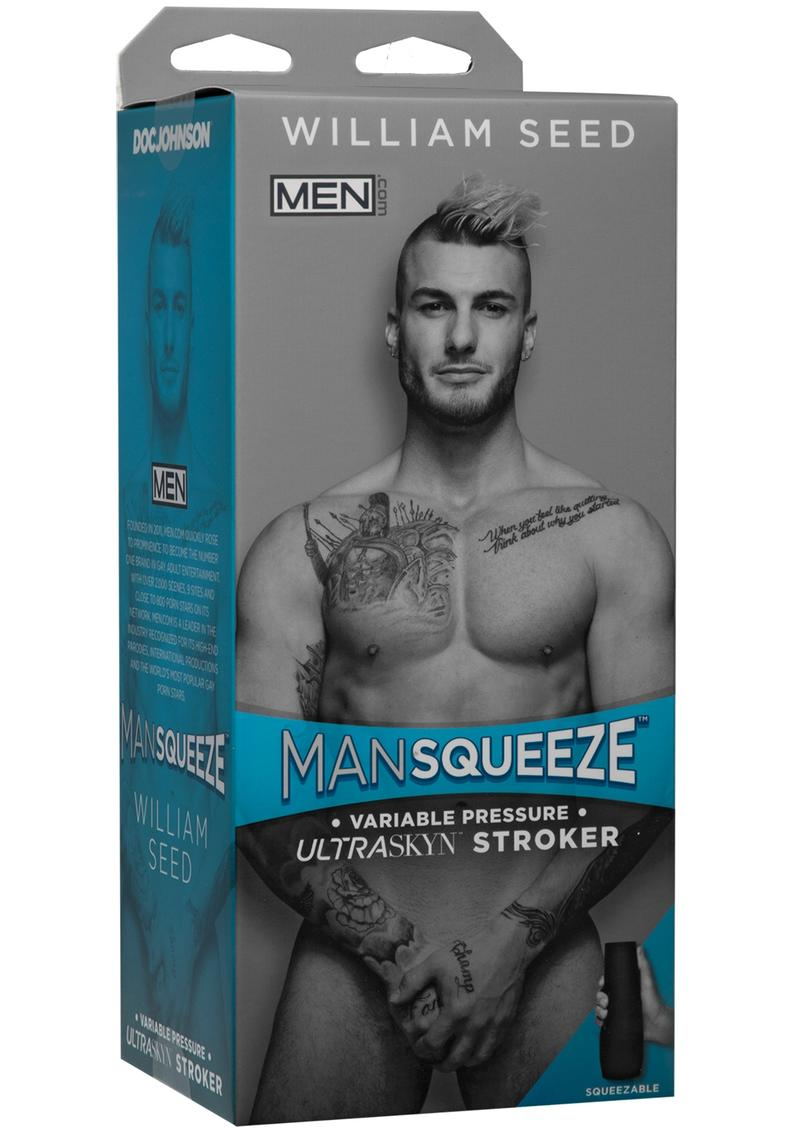 Man Squeeze William Seed UltraSkyn Stroker Realistic Anus Vanilla 9 Inches