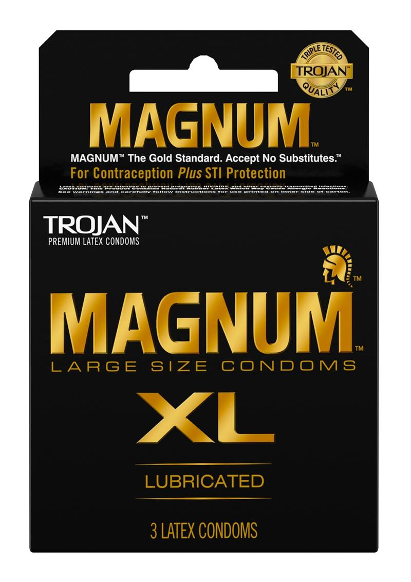 Trojan Magnum Xl  Lubricated Latex Condoms 3-Pack