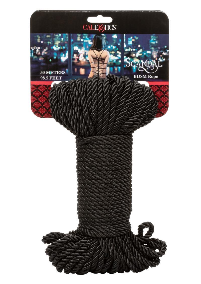 Scandal Bdsm Rope 98.5 Feet Bondage Black