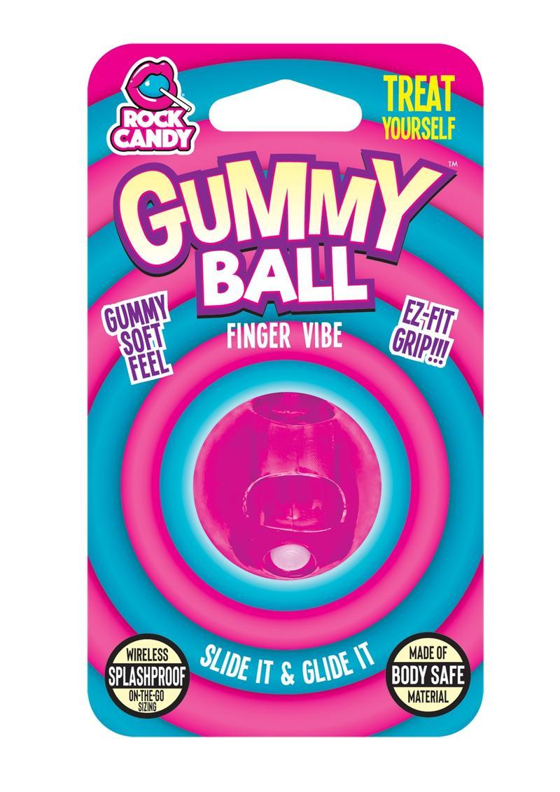 Rock Candy Gummy Ball Finger Vibe Splashproof  Pink