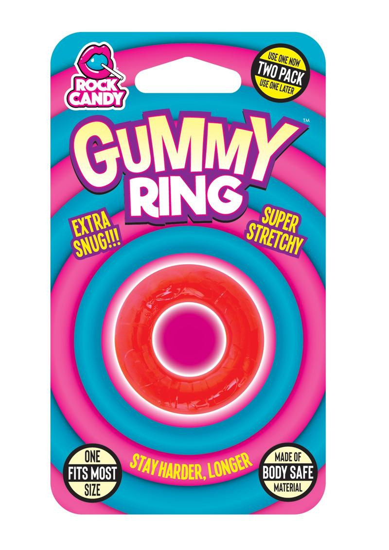 Rock Candy Gummy Ring Cock Ring One Size Fits Most Red