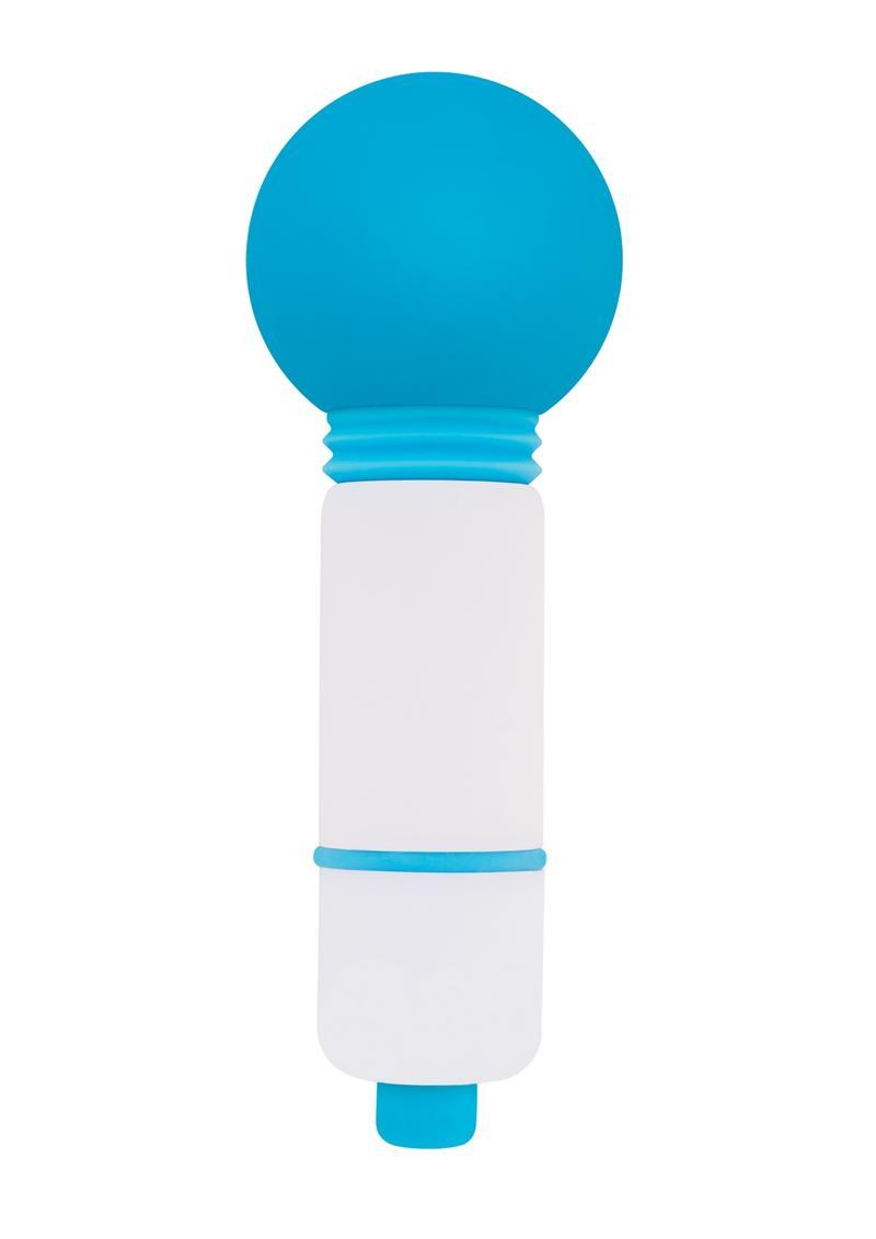 Rock Candy Fun Size Lala Pop Mini Massager Multi Function Shower Proof Blue