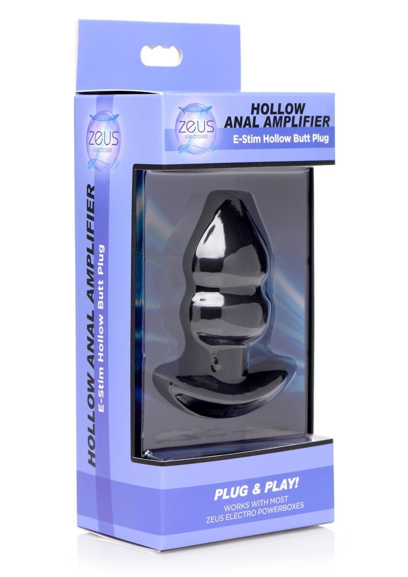 Zeus Hollow Anal Amplifier E-Stim Hollow Butt Plug Silicone