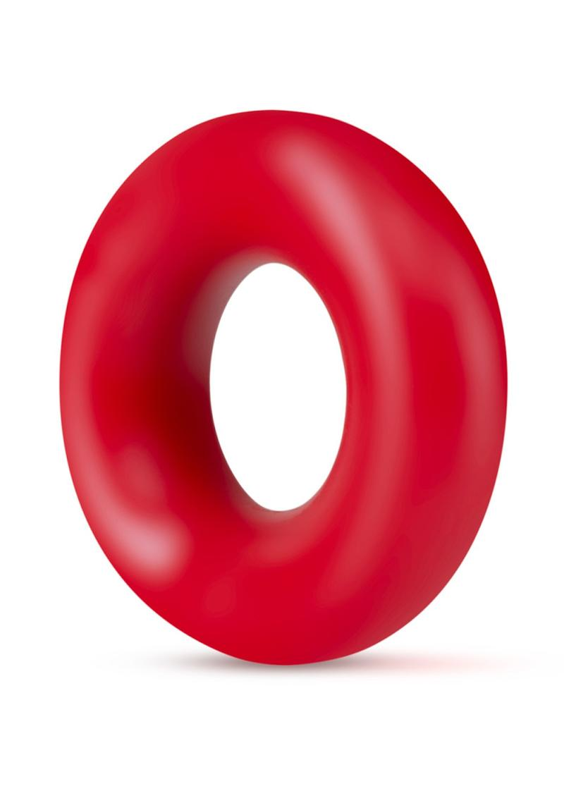 Stay Hard Donut Rings Cock Ring Red 2 Each Per Pack