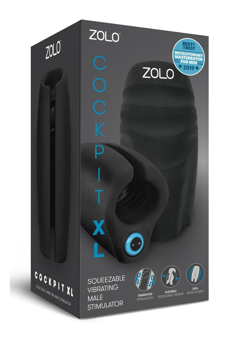 Zolo Cockpit XL Squeezable Vibrating Male Masturbator  Rechargeable  Waterproof