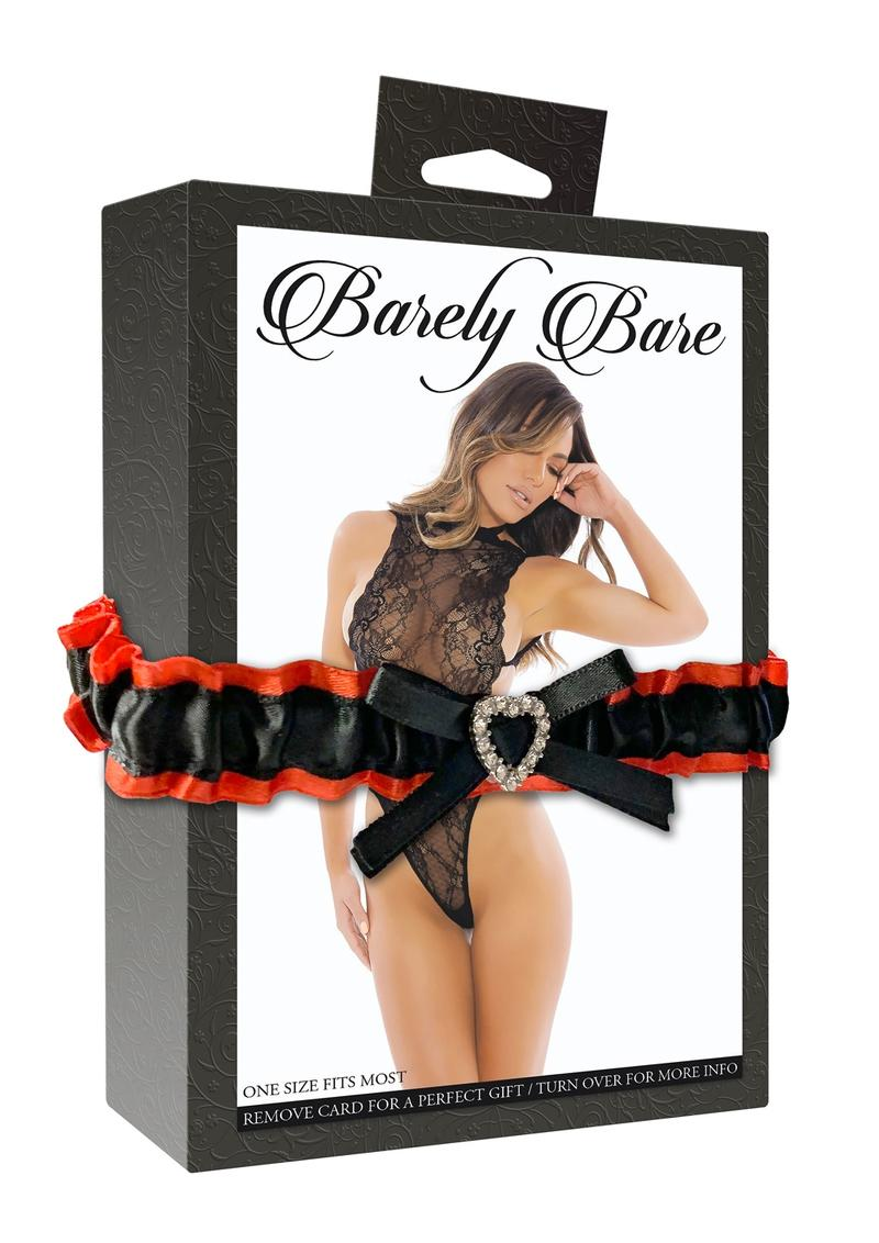Barely Bare Peek A Boo Lace Teddy Black One Size