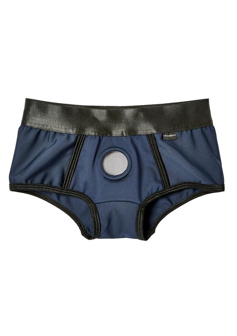 EM. EX. Active Harness Wear Fit Harness Boy Shorts Blue Triple Extra Large - 37-40