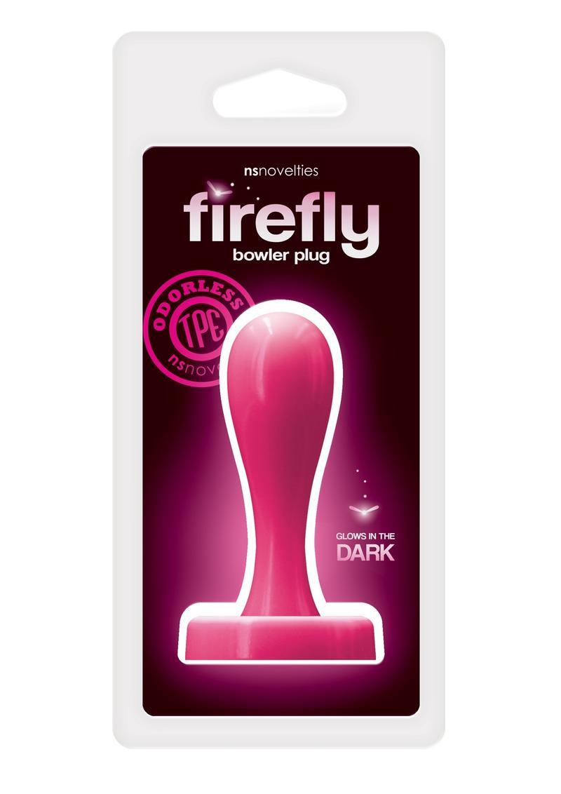 Firefly Bowler Plug Medium Anal Plug Glow In The Dark - Pink