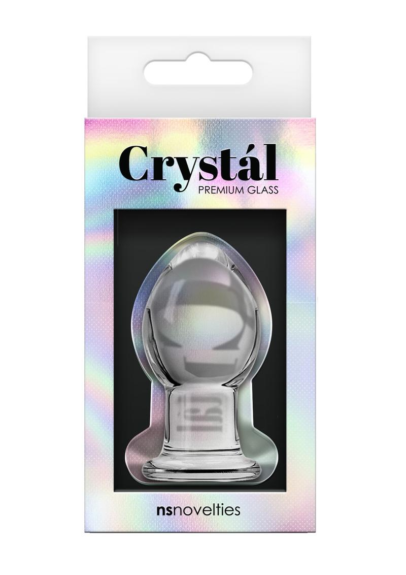 Crystal Premium Glass Anal Plug Small 2.5in - Clear