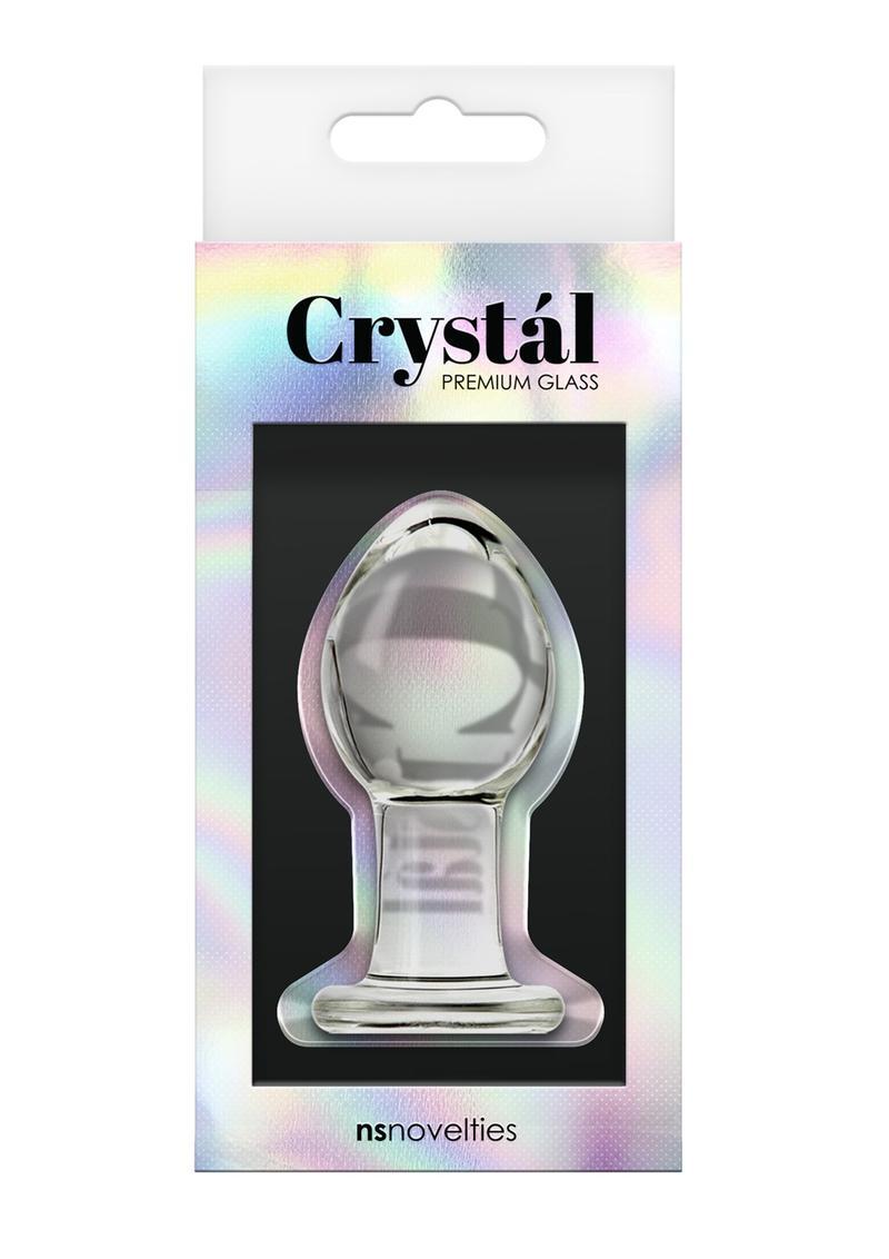 Crystal Premium Glass Anal Plug Medium 3in - Clear