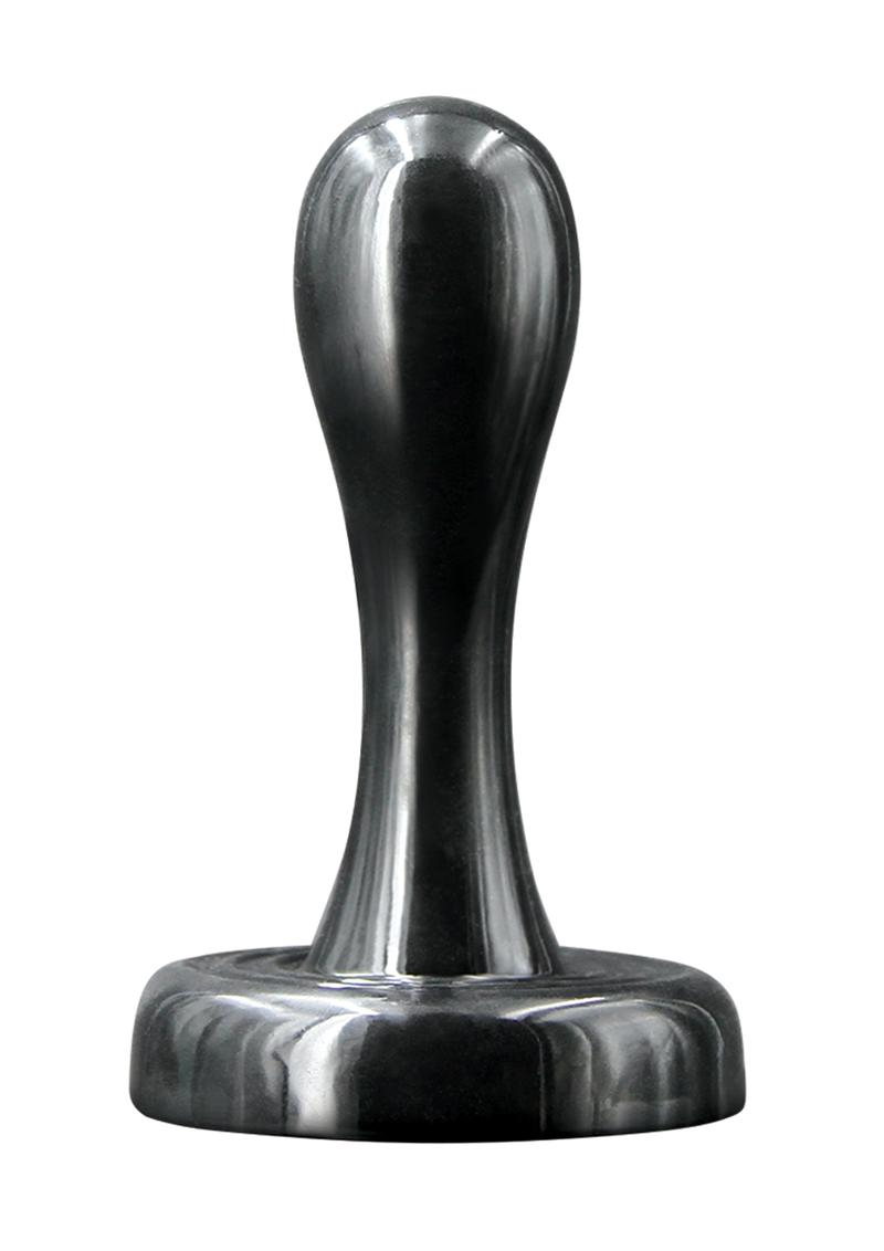 Renegade Bowler Plug Small Silicone Anal Plug - Black