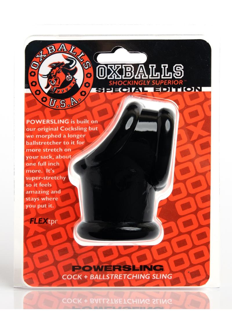 Oxballs Powersling Cock and Ball Stretching Sling Black
