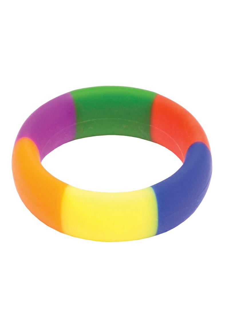 Pride 365 Silicone Rainbow Cock Ring