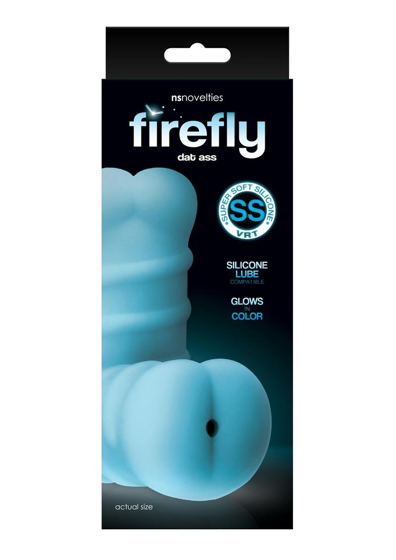 Firefly Dat Ass Stroker Silicone Glow In The Dark - Anal - Blue