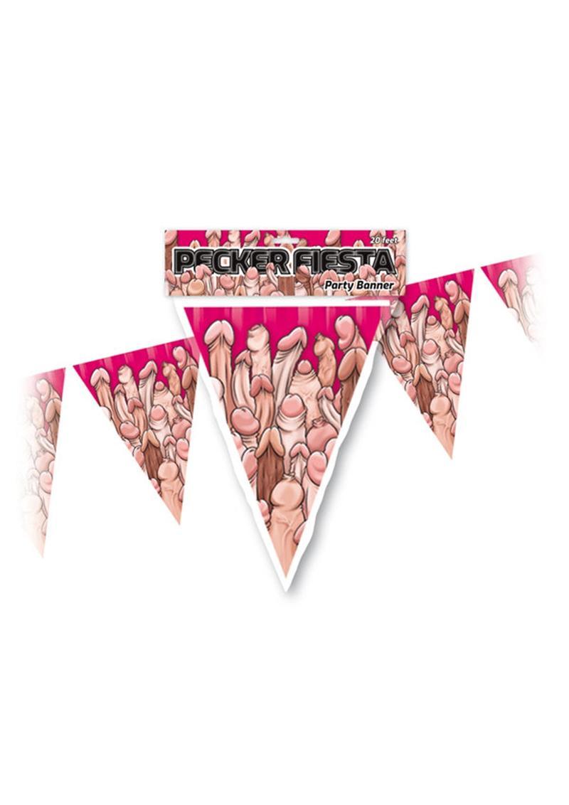 Pecker Fiesta Party Banner Novelty Item
